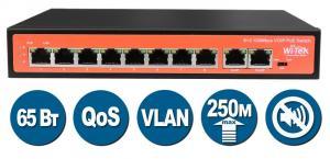 Неуправляемый коммутатор WI-PS510V с функцией PoE(Power over Ethernet) предназначен в первую очередь для инсталляций IP-телефонии. Но при правильной оценке PoE бюджета коммутатор также можно применять и в проектах IP-видеонаблюдения и WiFi