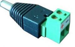 Адаптер SNR-B-SDCPM предназначен для оконцовывания проводов питания разъемом DC male. Разъем питания 5.5x2.1mm