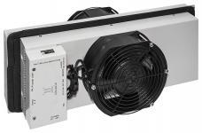 Термоэлектрический кондиционер 200 Вт для серверных шкафов SNR-ACC-200-TEC состоит из термоэлектрических преобразователей Пельтье, охлаждающих радиаторов, вентилятора и контроллера