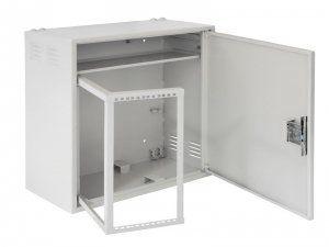 NETLAN  EC-WS-047028-GY - настенный антивандальный коммутуционный шкаф с поворотной рамой, 4U, Ш580хВ700хГ280мм, OEM, серый