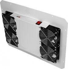 TLK-FAN4-GY - Вентиляторный блок для напольных шкафов, 4 вентилятора, без шнура питания, серый
