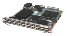 Cisco Catalyst WS-X6148A-GE-TX Модуль для Cisco Catalyst 6500 Series, 48 портов 10/100/1000BaseTX,размер буфера 2,67МБ, Jumbo Frame 9216 байт на кадр Поддержка IEEE 802