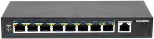 POWERTONE PUS-T08L-115M - PoE-коммутатор неуправляемый, 8x10/100BASE-TX 802.3af&at + 1х10/100/1000BASE-TX, c изол. портов, PoE бюджет 115Вт, до 30Вт на порт