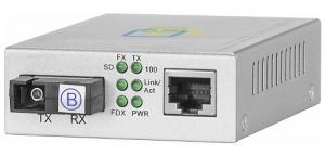 Медиаконвертер SNR-CVT-100A-V2 и SNR-CVT-100B-V2 осуществляют преобразование интерфейсов «витая пара - одномодовый оптический кабель по одному волокну» для сетей Ethernet 10/100BASE-TX и 100BASE-FX