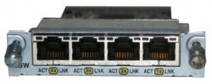 Модуль 4 порта 10/100BASE-TX для маршрутизаторов Cisco 1700 серии (1711, 1721, 1751, 1760) Производитель: Cisco