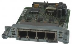 Интерфейсная карта с четырьмя голосовыми/факсовыми FXS или DID портами. Функциональность: Поддержка маршрутизаторов Cisco серий 17хх, 26хх, 28хх, 36хх, 37хх, 38хх