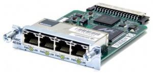 4 порта 10/100 Base-Tx для маршрутизаторов 2800, 3800 серий Таблица модулей Cisco (Router module) Производитель:Cisco
