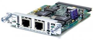 Интерфейсная карта с 2мя голосовыми/факсовыми FXS портами. Функциональность: Поддержка маршрутизаторов Cisco серий 175x, 176x (специальный VIC-слот) Возможность