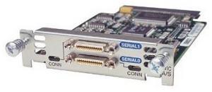 Модуль формата WIC (WAN Interface Card) для маршрутизаторов Cisco 1700, 2600, 3600 серий на 2 последовательных порта с разъемами Smart Serial для интерфейсов V