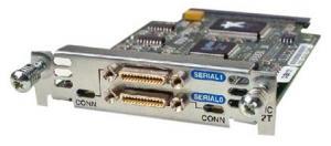 Модуль формата WIC (WAN Interface Card) для маршрутизаторов Cisco 1700, 2600, 3600 серий на 2 последовательных порта с единым разъемом Smart Serial для интерфейсов V