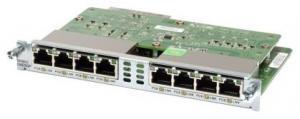 Cisco EHWIC-D-8ESG-P - Модуль, 8 портов 10/100/1000 Base-T с поддержкой PoE. Для маршрутизаторов платформы ISR G2 серии 1900, 2900 и 3900.