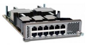 Модуль расширения, 12 портов 10G Base-T, для Cisco Nexus 5596. Поддержка FCoE до 30м при использовании кабеля cat6a и cat7.