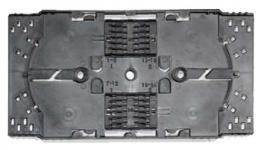 Сплайс-кассета универсальная FT-U-01 устанавливается в оптические кроссы и предназначена для фиксации и защиты термоусадочных гильз КДЗС. Конструкция кассеты позволяет размещать до 24 гильз КДЗС 40/45/60 мм (по 12 шт в два ряда), а также позволяет размещать запас оптических волокон