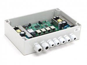 Коммутатор TFortis PSW-1 (оптика) - PoE-коммутатор уличный, 4*802.3af/Passive PoE 10/100Base-Tx, 1*SFP 100/1000Base-X