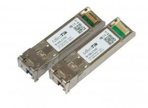 MikroTik S+2332LC10D - SFP модули pair of SFP+ (10Gbit) modules, 10K, for single optical cable