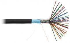NETLAN EC-UF025-5-PE-BK-3 - 305м, кабель витая пара F/UTP 25 пар, Кат.5 (Класс D), 100МГц, одножильный, BC (чистая медь), внешний, PE до -40C, черный