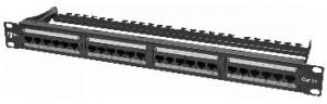 Коммутационная панель (patching panel) предназначена для разделки в ней кабелей различных подсистем СКС и подключения отдельных составляющих сети друг к другу коммутационными шнурами (patching cords)