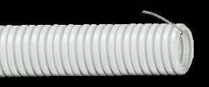 Гофрированные трубы используются для прокладки силовых и слаботочных линий скрытого типа внутри зданий и сооружений. Благодаря гибкости трубы, прокладка кабеля осуществляется с минимальными трудозатратами и практически не требует дополнительных аксессуаров
