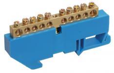Шины с изолятором типа ШНИ предназначены для электрического и механического соединения нулевых, защитных и фазных проводников. Конструктивно шины ШНИ выполнены из латунной шины, установленной на пластиковый изолятор или в изолятор, изготовленный из самозатухающего пластика