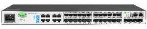L3 Коммутатор SNR-S3850G-24FX предназначен для использования на уровне агрегации в сетях операторов связи и корпоративных клиентов. Полностью аппаратные коммутация, маршрутизация и политики ACL гарантируют отсутствиезадержек и потерь трафика