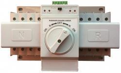 Реверсивный рубильник серии SQ3 используется для коммутации 2-х вводов в автоматическом или ручном режиме. Предназначен для использоваться в качестве устройства Автоматического ввода резерва без применения дополнительного оборудования (генератор должен быть оснащен функцией автоматического запуска по сухому контакту)