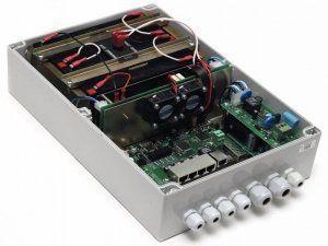 TFortis PSW-1G4F-UPS - PoE-коммутатор уличный управляемый/неуправляемый с ИБП, 4*802.3af/Passive PoE, 1*10/100/1000Base-T, 1*SFP 100/1000Base-X, 50Вт
