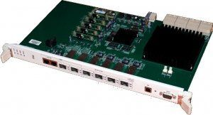Eltex PP4X - модуль центрального коммутатора, 4 порта 10/100/1000Base-T, 4 порта 10G Base-R (SFP+), L2+