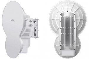 UbiquitiAirFiber — это мощнейшее беспроводное устройство способное передавать 1 Гбит/с по воздуху. AirFiber работает в диапазоне 24 ГГц. Благодаря мощному коэффициенту усиления антенны 33 dBi UbiquitiAirFiber способен передавать трафик на расстоянии до 13 км