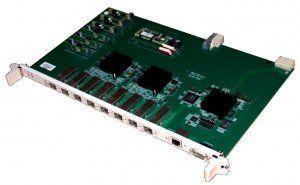 Модуль PLC8Модуль PLC8 предназначен для организации широкополосного доступа в сеть передачи данных по технологии GPON на скорости до 2.5Гбит/с в сторону пользователя