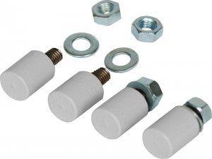 Ножки для настенных шкафов TWC, уп-ка 4шт (TLK-WT4)Ножки для настенных шкафов предназначены для компенсации неровностей пола и выравнивания положения шкафов при необходимости установки настенных шкафов на пол