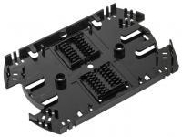 NIKOMAX NMF-SPL32-WO - Сплайс-кассета NIKOMAX, до 32 КДЗС, с органайзером, АБС-пластик, черная купить в Казани Описание:Сплайс-кассеты предназначены для размещения термоусаживаемых гильз (КДЗС), защищающих мес