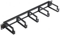 """NIKOMAX NMC-OK800H-1U-BK-2 - уп-ка 2шт., кабельный органайзер 19"""", 1U, глубина колец 80мм, металлический, с отверстиями в опорной планке, черный купить в Казани Описание:Кабельные органайзеры предназначены для укладки избыточной длины коммутационных или аппар"""