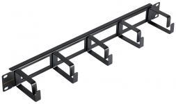 """NIKOMAX NMC-OK600H-1U-BK-2 - уп-ка 2шт., кабельный органайзер 19"""", 1U, глубина колец 60мм, металлический, с отверстиями в опорной планке, черный купить в Казани Описание:Кабельные органайзеры предназначены для укладки избыточной длины коммутационных или аппар"""