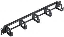 """NIKOMAX NMC-OK400H-1U-BK-2 - уп-ка 2шт., кабельный органайзер 19"""", 1U, глубина колец 40мм, металлический, с отверстиями в опорной планке, черный купить в Казани Описание:Кабельные органайзеры предназначены для укладки избыточной длины коммутационных или аппар"""