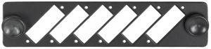NIKOMAX NMF-AP06DSC-P-BK - Адаптерная панель, до 6 двойных адаптеров SC, стальная, черная купить в Казани Описание:Адаптерные панели предназначены для установки в оптические кроссы и позволяют подобрать о
