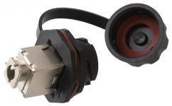 NIKOMAX NMC-KJSE2-IS-BK - Индустриальный модуль-вставка, Кат.6 (Класс E), 250МГц, RJ45/8P8C, 110/KRONE, T568A/B, экранированный, IP67, с защитной крышкой, черный купить в Казани Описание:Индустриальные модули-вставки NIKOMAX со степенью защиты IP67. Модули состоят из двух час
