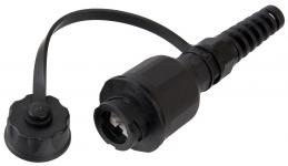 NIKOMAX NMC-KJUE2-IS-PC-BK - Индустриальный модуль-розетка для оконцевания отдельностоящих кабелей, Кат.6 (Класс E), 250МГц, RJ45/8P8C, 110/KRONE, T568A/B, неэкранированный, IP67, с защитной крышкой, черный купить в Казани Описание:Индустриальные модули-розетки NIKOMAX со степенью защиты IP67. Данные модули предназначен