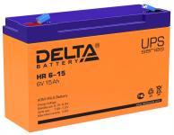 Delta HR 6-15 - Аккумуляторная батарея для ИБП, AGM, 15Ач, 6В