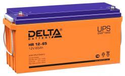 Delta HR 12-65 - Аккумуляторная батарея для ИБП, AGM, 65Ач, 12В