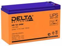 Delta HR 12-34 W - Аккумуляторная батарея для ИБП, AGM, 9Ач, 12В