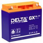 Delta GX 12-17 - Аккумуляторная батарея, AGM+GEL, 17Ач, 12В