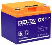 Delta GX 12-45 - Аккумуляторная батарея, AGM+GEL, 45Ач, 12В