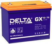 Delta GX 12-75 - Аккумуляторная батарея, AGM+GEL, 75Ач, 12В
