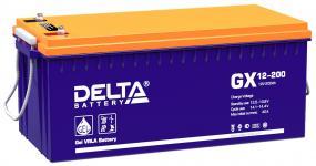 Delta GX 12-200 - Аккумуляторная батарея, AGM+GEL, 200Ач, 12В
