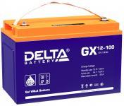 Delta GX 12-100 - Аккумуляторная батарея, AGM+GEL, 100Ач, 12В