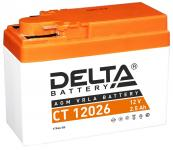 Delta CT 12026 - Аккумуляторная батарея стартерная, AGM, 2.5Ач, 12В [YTR4A-BS]