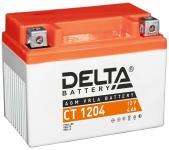 Delta CT 1204 - Аккумуляторная батарея стартерная, AGM, 4Ач, 12В [YB4L-A, YB4L-B, YTX4L-BS]