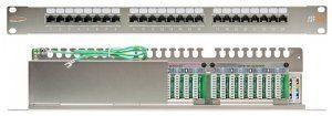 """Патч-панель NIKOMAX 19"""", 1U, 24 порта, Кат.5e, RJ45/8P8C, 110/KRONE, T568A/B, полный экран, с органайзером, металлик (NMC-RP24SD2-1U-MT) в Казани"""