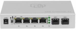 SNR-S1904GP-2S -  Неуправляемый POE коммутатор уровня 2, 4x 10/100/1000Base-T, 2x 1000Base-X (SFP), 65Вт купить в Казани Серия SNR-S1900 – это неуправляемые Ethernet-коммутаторы, предназначенные для расширения или органи