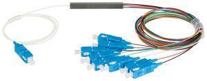 NIKOMAX NMF-SPP1X8A1-SCU-M - Сплиттер планарный 1x8, одномодовый 9/125мкм, стандарта G657.A1, SC/UPC, миникорпус, с равным коэффициентом деления, 0.9 мм купить в Казани ОписаниеОптические планарные сплиттеры, так же известны как PLC (Planar Lightwave Circuit) делител